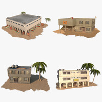 3d model of pack arab building house