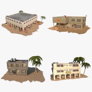 3d model of pack arab building house
