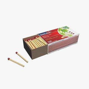 matches box 3d model