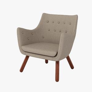 finn juhl poet chair 3d max