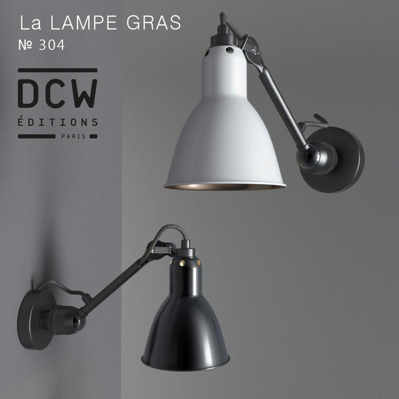 3d Model Sconces La Lampe Gras
