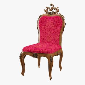 3d max modenese gastone chair 11502