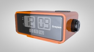 retro alarm clock 3d model
