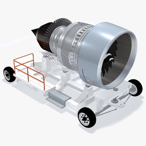 aircraft engine transport device 3d model