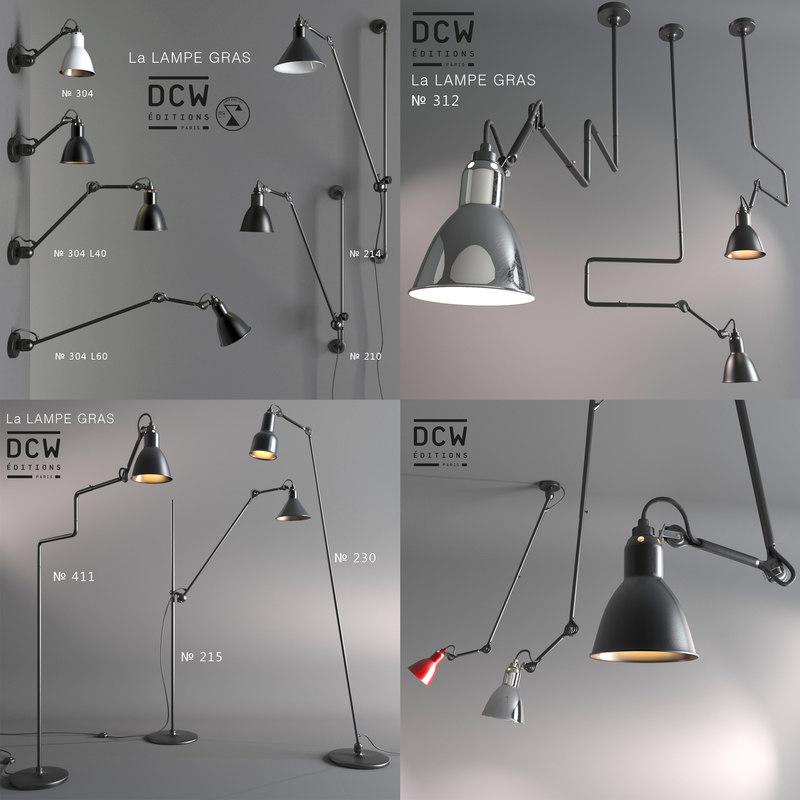 3d lamps la gras model
