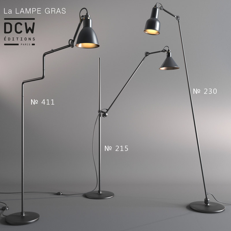 floor lamps la gras 3d model