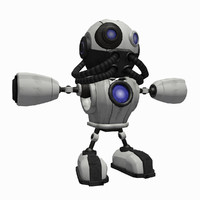 SciFi Robot 1 - Sci-Fi Cartoon Character