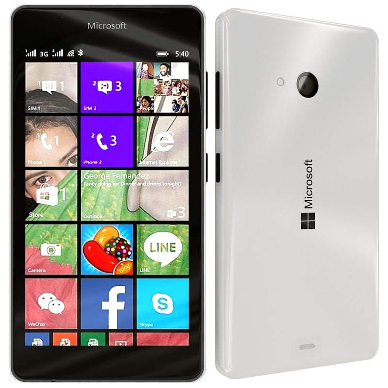 3d model microsoft lumia 540