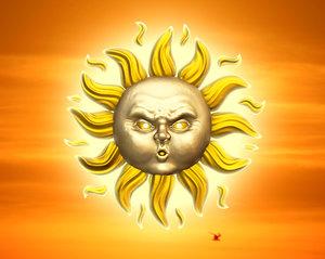 free sun face 3d model