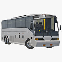 3d model charter bus rigged