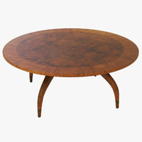 melbourne dining table 3d model