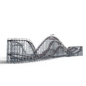 coney roller coaster 3d obj