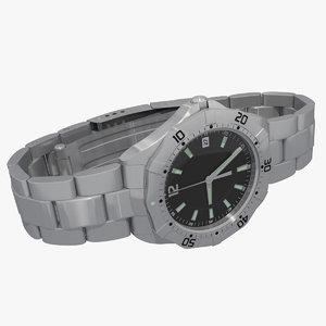 watch wristwatch 3d max