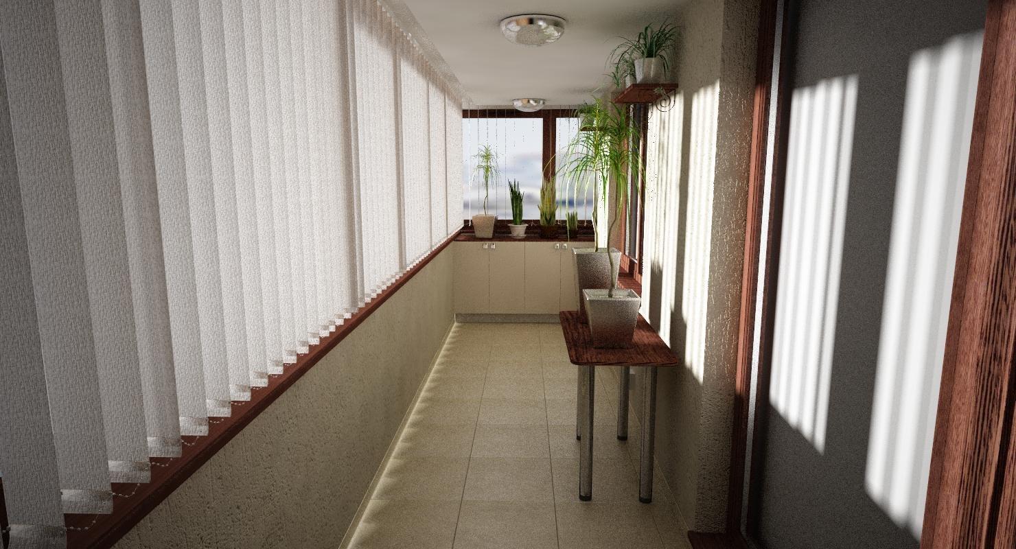 3d model apartament balcony