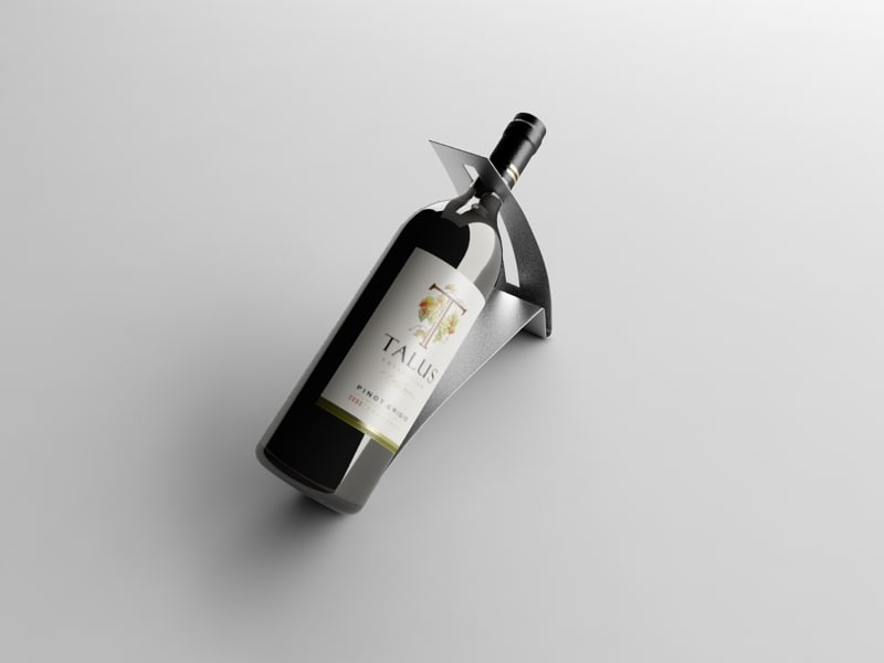 bottle wine stand 3d 3ds