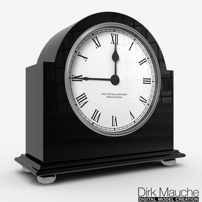 3d ma shelf clock