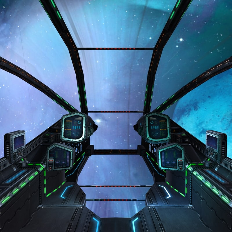 sci-fi spaceship cockpits - 3ds