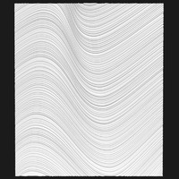 panel decorative 3d wave