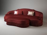 anemone sofa ottoman galimberti 3d max
