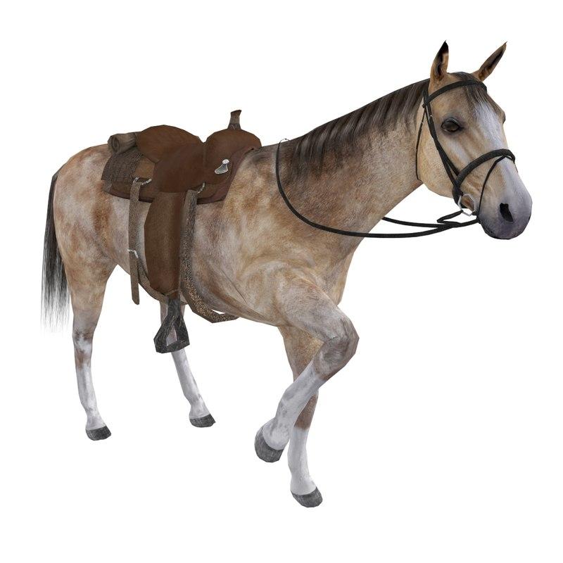 rigged wild west horse saddle max