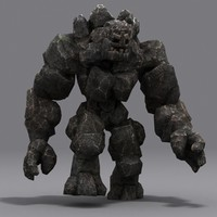3d model elemental golems -