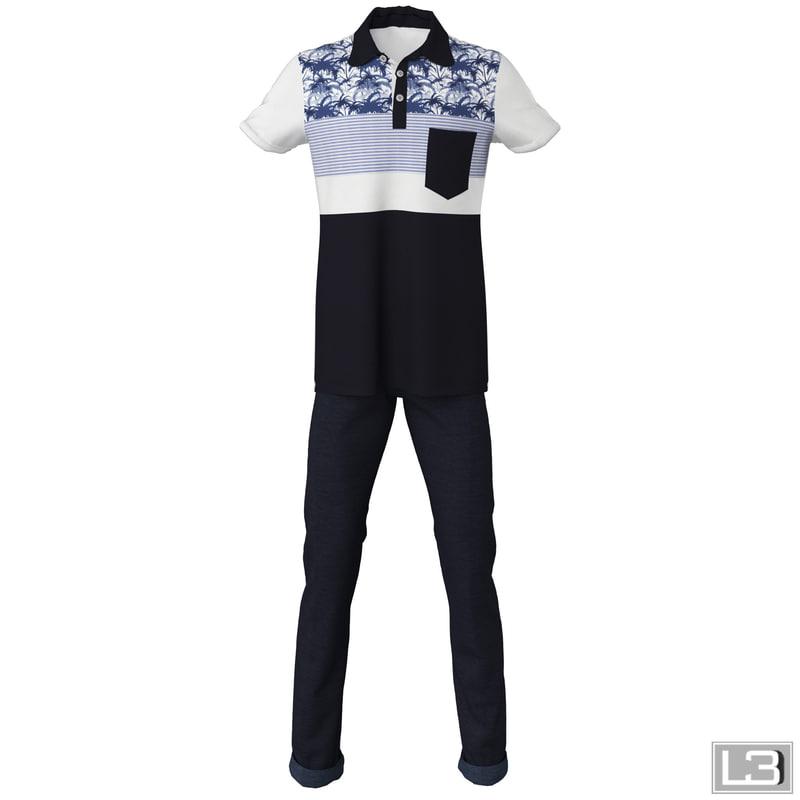 3ds max man clothes
