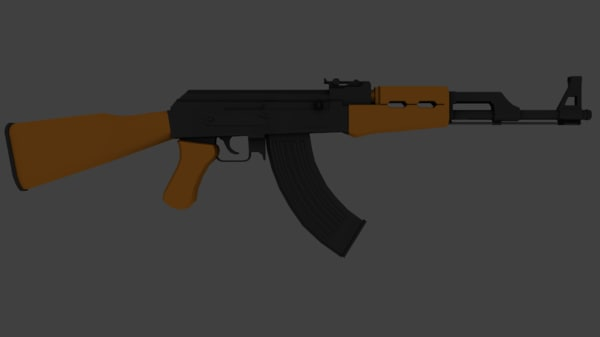 free ak-47 ak 47 3d model