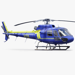 eurocopter rescue helicopter 3d max