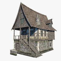 3dsmax fantasy medieval house