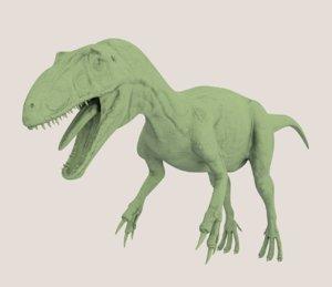 3d obj allosaurus dinosaur