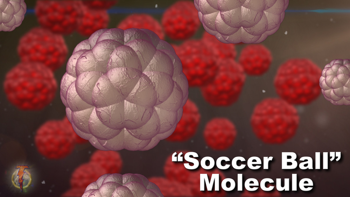 3d carbon soccer ball molecule model