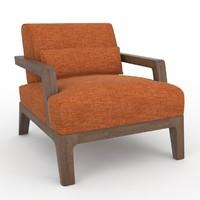 3d ottoman poltrona armchair model