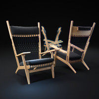3d hans-wegner-pp129-chair
