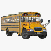 3d model schooll bus 2 rigged