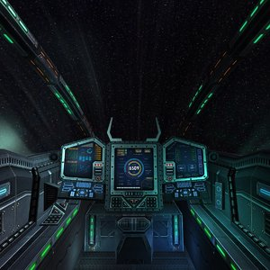 3d model sci-fi spaceship cockpit -