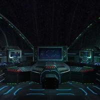 3d 3ds sci-fi spaceship cockpit -