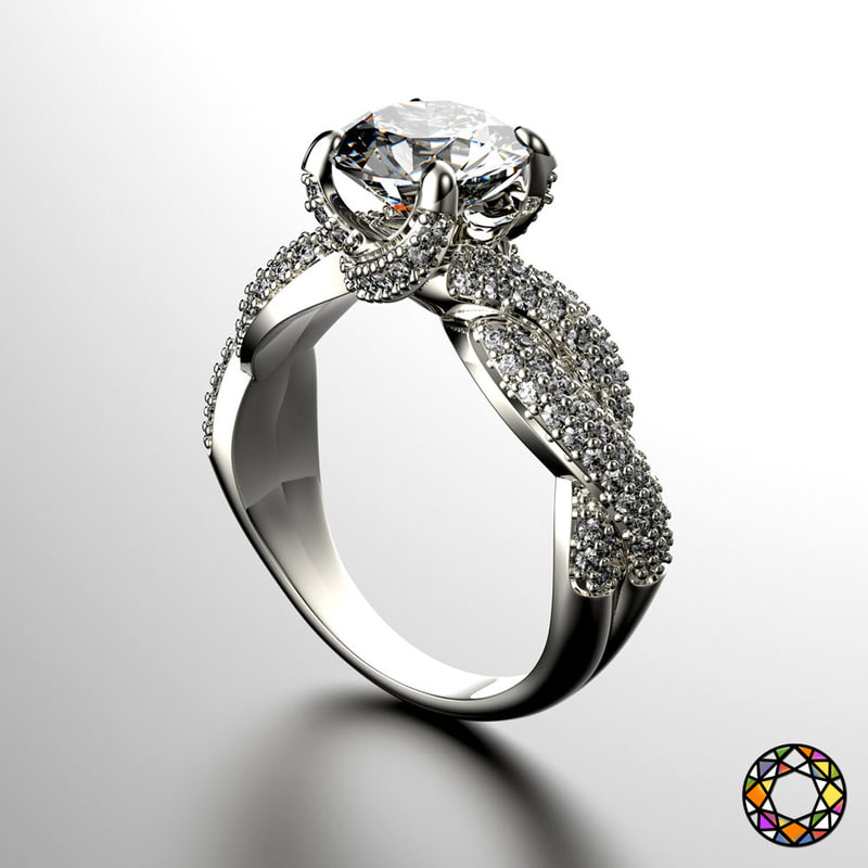 engagement ring 3d model