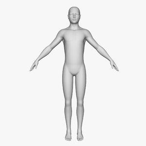 3d boy base model