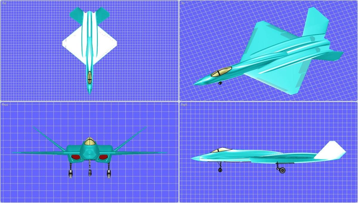 northrop aircraft solid obj