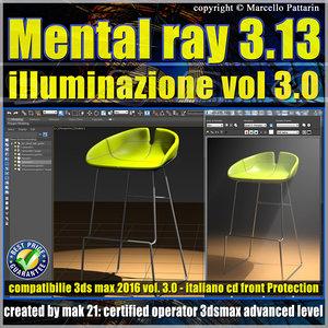 Mental ray 3.13 in 3dsmax 2016 Vol.3 illuminazione cd front