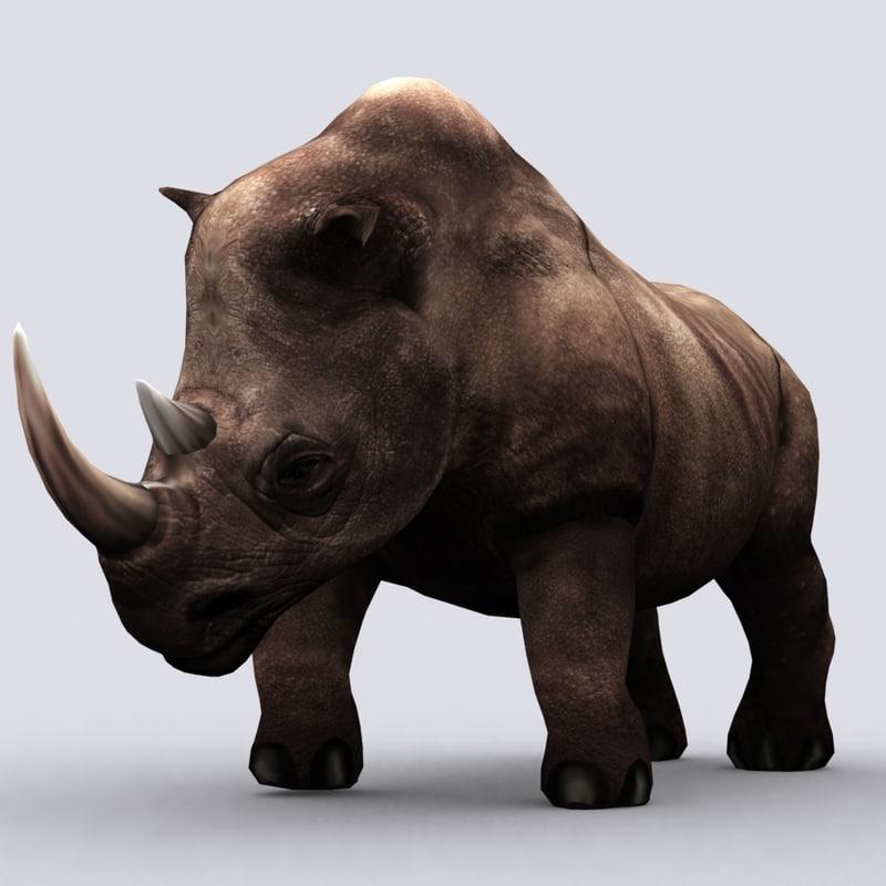 3d fantasy animal - rhino