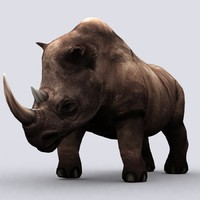 3d fantasy animal - rhino