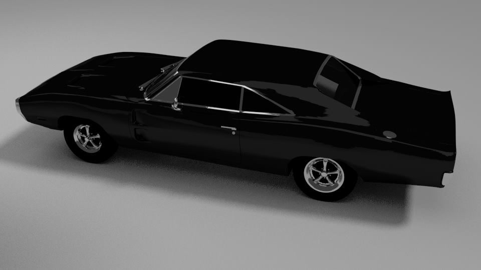 blender dodge charger 70