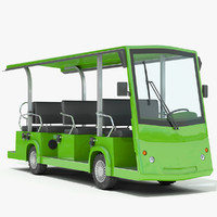 3d obj electric bus