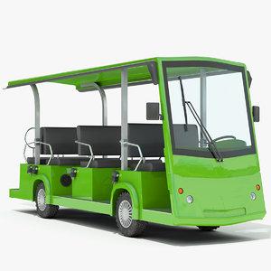 3d obj electric bus