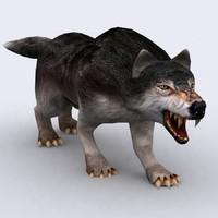 fantasy animal - wolf 3d 3ds