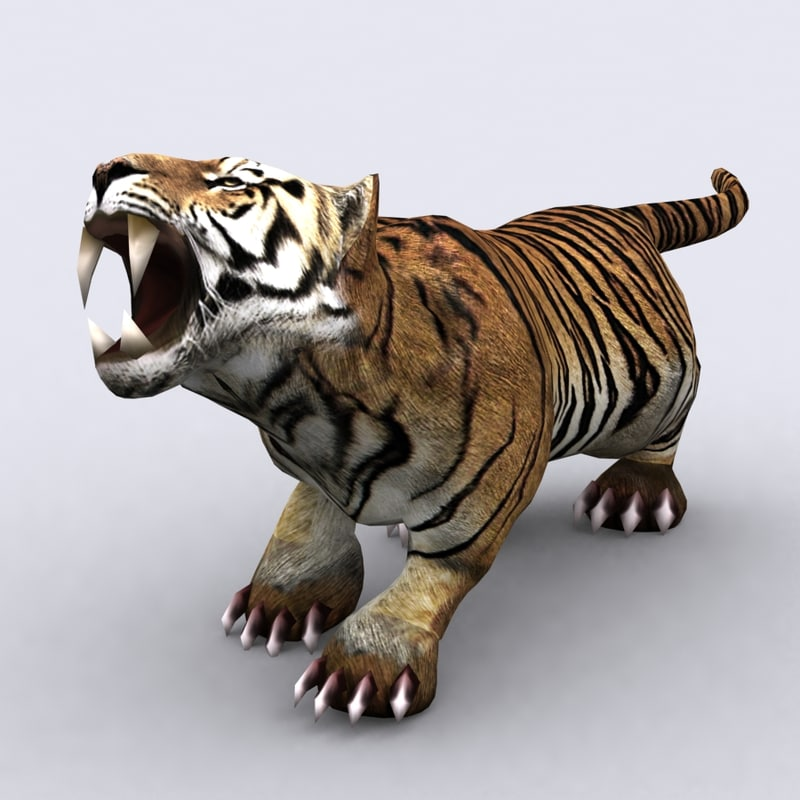 fantasy animal - tiger 3ds