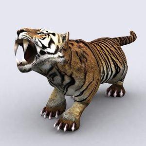 fantasy animal - tiger 3ds