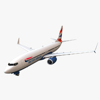 british airways boeing 737-800 3d max