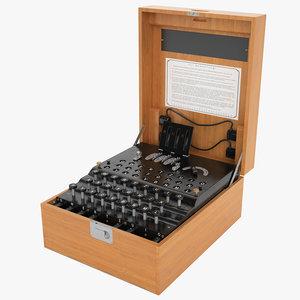 3dsmax enigma cipher machine